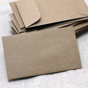 150 Small Kraft Envelopes