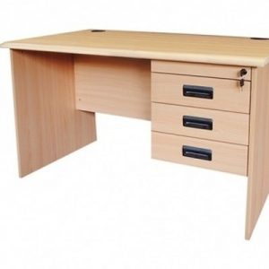 MOF BL-Beige Full Melamine Beige Wood Office Desk