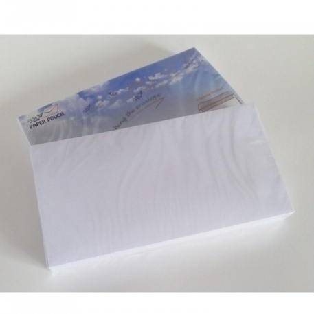 Pack of 50 Peel and Seal letter Envelopes 80gsm 110 x 220 - White