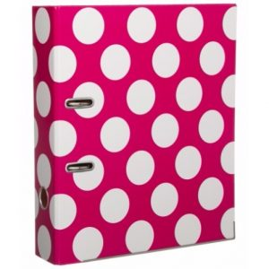 Polka Dot A4 Lever Arch File – Pink